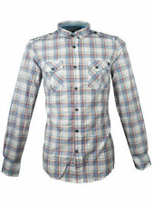 Cotton Collared Check Fitted Casual Shirts & Tops for Men
