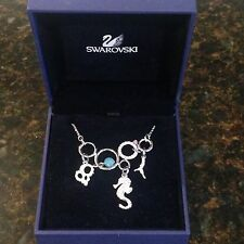 Swarovski Signed Necklace Multiple Sea Elements Necklace Seahorse NWT