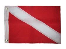 12x18 Ricamato Cucite Sub Down Nautico Nylon Bandiera 30.5cmx45.7cm Anelli di