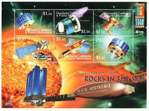 ROCKS IN THE SKY Space Exploration Probes/Satellites Stamp Sheet #2 2000 Grenada