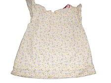 Hema tolles leichtes Kleid / Hängerchen Gr. 62 creme mit Druckmotiven !!