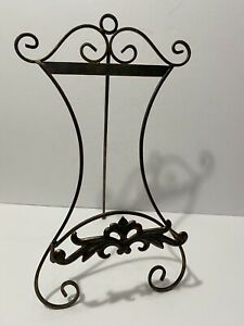 """Wrought Iron Patina Easel Plate or Picture Frame Display  Stand Cookbook 15"""""""