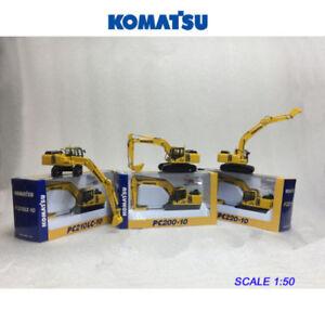 Komatsu PC200-10 + PC210LC-10 + PC220-10 Excavator Model 1/50 Collection 3 Units