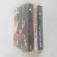Lot of 3 Classic Country Cassette Tapes Hank Williams Jr John Denver Charlie Dan
