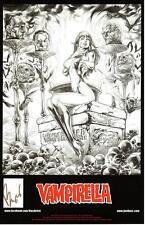 "SEXY VAMPIRELLA ART PRINT #1 SIGNED BY DC COMICS ARTIST BUZZ 11""x17"""