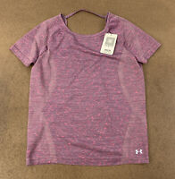 Under Armour Women's Size Small FITTED Purple Short Sleeve Athletic Top NWT