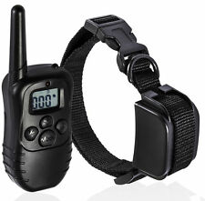 LCD Electric 100LV Levels Shock Pet Dog Training Remote Control One Collar Black