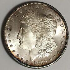 1880-S U.S. Morgan Silver Dollar Coin UNC BU MS+++ (L583)