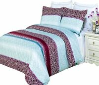 Best Ultra Soft Kimberly Duvet Cover Set with 2 Pillow Shams 100% Combed Cotton