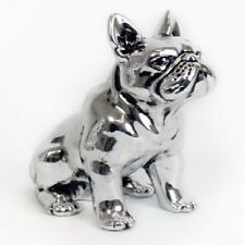 Distressed Silver French Bulldog Ornament.