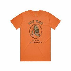 Zig-Zag Distressed Classic T-Shirt - Orange