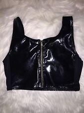 Black Milk Clothing Unreleased Unlabelled PVC Floral BV Pattern  Crop Blackmilk