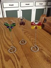 3 Butterfly Dragonfly Bug Shaped Wire Clip Picture/Note/Memo Holder-Colorful