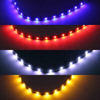12V Car Multi LED Strip Bulb 5050 12 SMD 30CM Flexible Lamp Lighting Waterproof