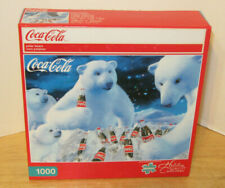 "Buffalo Games 1000 pc Puzzle ~ Coca-Cola ~ Polar Bears ~ 27"" x 20"" NIP VHTF"