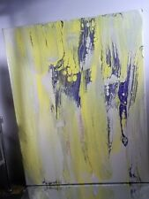ABSTRACT ORIGINAL~ CANVAS Authentic Painting Artist MUSK YAI 16x20 READY TO HANG
