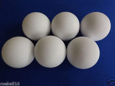 Five Garlando White Table Football Balls
