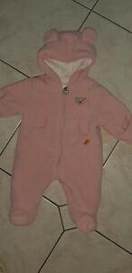 STEIFF: Baby-Teddy-Overall, rosa, Gr. 62