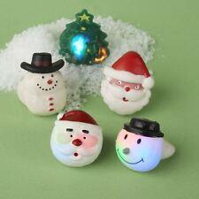 Light Up LED Intermitente Navidad Novedad Jelly Finger Ring ~ diseño varía