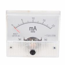 0-20mA Analogico DC Panel de Medidor de corriente Amperimetro 85C1-A W1C2