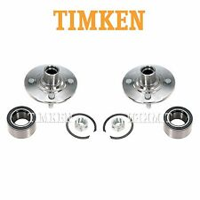 Saturn SC1 SC2 SL Pair Set of 2 Front Wheel Bearings and Hub Assemblies Timken