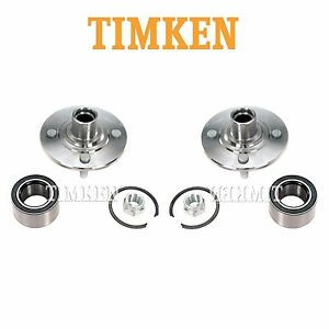 For Saturn SC1 SC2 SL Pair Set of 2 Front Wheel Bearings & Hub Assemblies Timken