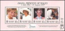 Solomon 1998 MNH SS, Princess Diana, Surcharge for Princess of Wales Memorial