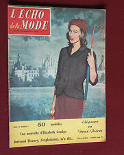 1956 L'écho de la mode N°39 Hebdomadaire féminin vintage couture rétro