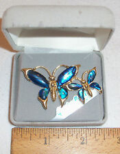 ALASKA'S FINEST QUALITY ABALONE SHELL DOUBLE BUTTERFLY PIN/BROOCH