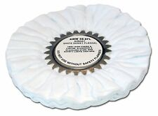 "Zephyr AWW-58-8FL White Domet Flannel 8"" Buffing Wheel"