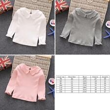 Children's clothing girls long-sleeved bottoming shirt cotton top cute T-shirt