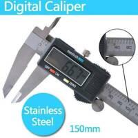 150mm 6inch Stainless Steel Digital Electronic Gauge Vernier Caliper Micrometer~
