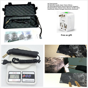 Universal Stapler Plastic Repair Kit Car Bumper Welder Gun With 500 Hot Staples