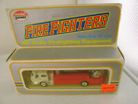 MODEL POWER HO AERIAL TOWER LADDER/BUCKET FIRE TRUCK RED WITH WHITE CAB