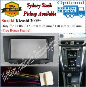 Harness + Fascia facia Fits Suzuki Kizashi 2009+ Double Two 2 DIN Dash Kit*