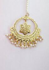 Star Gold Tikka/Jadau Punjabi Muslim Headpiece Hijab Statement Fashion Jewelry