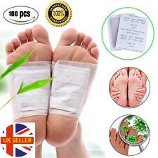 100 Kinoki Detox Foot Patches Pads Body Toxins Feet Slimming Cleansing Herbal