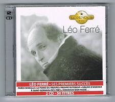 LÉO FERRÉ - SES PREMIERS SUCCÈS - COFFRET 2 CD - NEUF NEW NEU