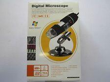 Microscopio Digital Usb 2.0 y 1.1 con aumento de 200x/Luz/software/stand