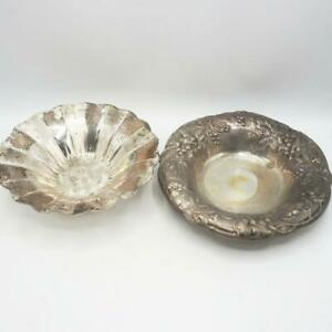 Vintage Lot of Bowl Silver Plate