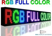 "7"" x 62""  DIGITAL ELECTRONIC FULL COLOR PROGRAMMABLE MANY FEATURES SHOP DISPLAY"