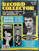 Record Collector Issue 147 Nov 1991, David Bowie, Prince, The Shamen, Buddy Holl