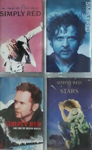 Job Lot/Bundle Of 4 Simply Red Cassettes.A New Flame/Blue/Stars+