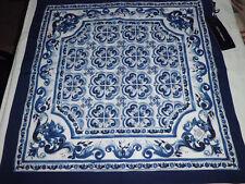 Dolce&Gabbana Bandana Foulard Clutch bag Majolica Blue
