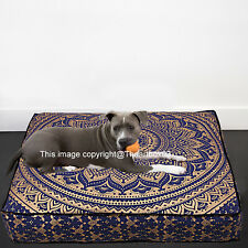 Indian Mandala Cotton Square Floor Cushion Cover Floor Pillow Indian Pet Dog Bed