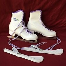 Winter Northern Lites White women's ice skates size 6 w/guards Canada blades