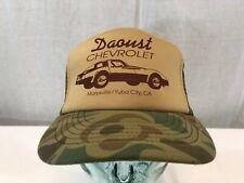 VTG Daoust Chevrolet Mesh Snapback Trucker Hat Camo Corvette Yuba California