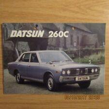 DATSUN 260C 260 C 4 Door Saloon Original UK Market Car Sales Brochure c.1978