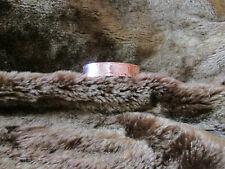 Native American Santo Domingo Stamped Copper Cuff Bracelet