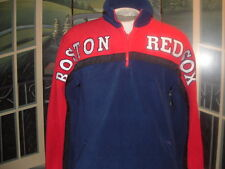 BOSTON RED SOX FLEECE PULLOVER JACKETw/Pockets,Drawstring,&Zipper.XL.MightyMac>>